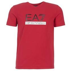 Oblečenie Muži Tričká s krátkym rukávom Emporio Armani EA7 MOFRAGO červená