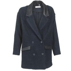 Oblečenie Ženy Kabáty Naf Naf ADELAIDE Námornícka modrá