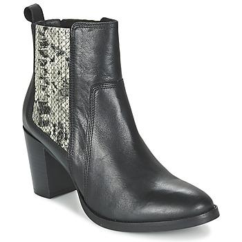 Topánky Ženy Čižmičky Betty London FLARA Čierna / Hadí vzor