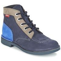 Topánky Ženy Polokozačky Kickers KICK COL Námornícka modrá