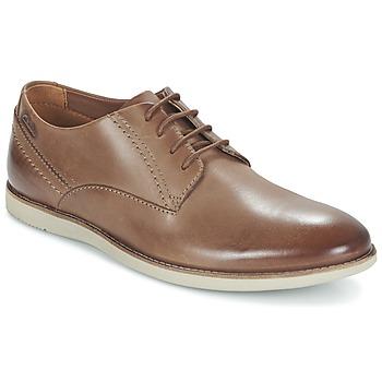 Topánky Muži Derbie Clarks FRANSON PLAIN Hnedá