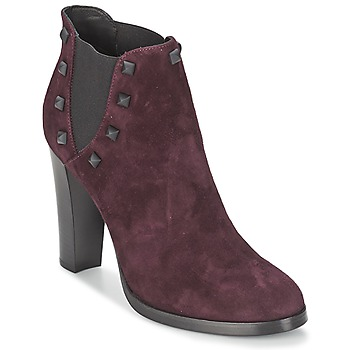 Topánky Ženy Čižmičky Alberto Gozzi CAMOSCIO NEIVE Bordová