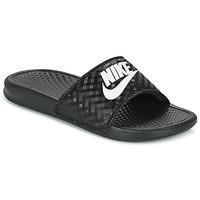 Topánky Ženy športové šľapky Nike BENASSI JUST DO IT W Čierna / Biela