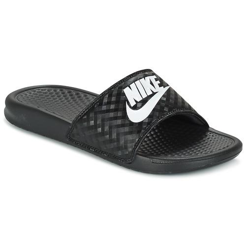 1a3756fe08498 Topánky Ženy športové šľapky Nike BENASSI JUST DO IT W Čierna / Biela