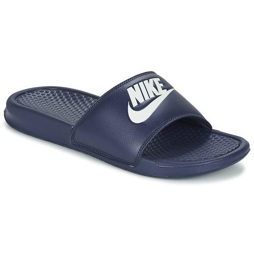 0045a37a87 Nike BENASSI. 26.00. Topánky Muži športové šľapky Nike BENASSI JDI Modrá ...