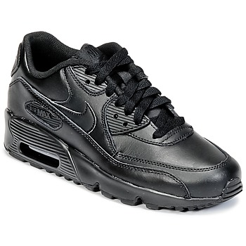 Topánky Chlapci Nízke tenisky Nike AIR MAX 90 LEATHER GRADE SCHOOL čierna