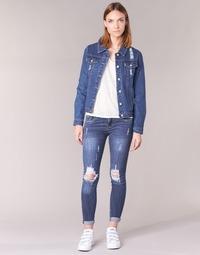Oblečenie Ženy Džínsy Slim Yurban FOUNOLE Modrá / MEDIUM