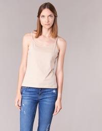 Oblečenie Ženy Tielka a tričká bez rukávov BOTD FAGALOTTE Béžová