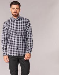 Oblečenie Muži Košele s dlhým rukávom Yurban FLENOTE Čierna / Biela
