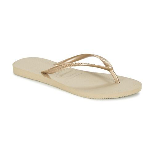 Topánky Ženy Žabky Havaianas SLIM Zlatá