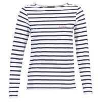 Oblečenie Ženy Tričká s dlhým rukávom Betty London FLIGEME Biela / Modrá