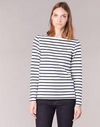 Oblečenie Ženy Tričká s dlhým rukávom Betty London IFLIGEME Biela / Modrá