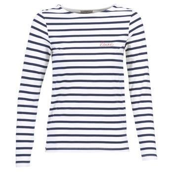 Oblečenie Ženy Blúzky Betty London FLIGEME Biela / Modrá