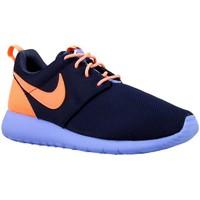 Topánky Chlapci Nízke tenisky Nike Roshe One GS Oranžová, Tmavomodrá