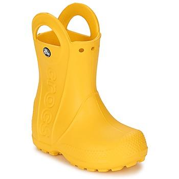 Topánky Deti Čižmy do dažďa Crocs HANDLE IT RAIN BOOT KIDS Žltá