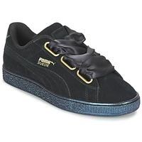 Topánky Ženy Nízke tenisky Puma BASKET HEART SATIN WN'S Čierna