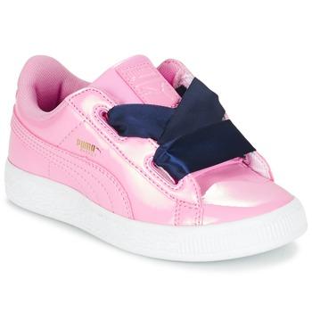 Topánky Dievčatá Nízke tenisky Puma BASKET HEART PATENT PS Ružová / Námornícka modrá