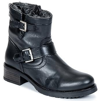 Topánky Ženy Polokozačky Buffalo ES-30493-MEXICO čierna