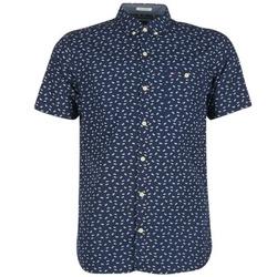 Oblečenie Muži Košele s krátkym rukávom Tommy Jeans TIDURES Námornícka modrá