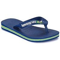 Topánky Deti Žabky Havaianas BRASIL LOGO Námornícka modrá