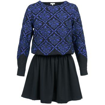 Oblečenie Ženy Krátke šaty Manoush GIRANDOLINE Čierna / Modrá
