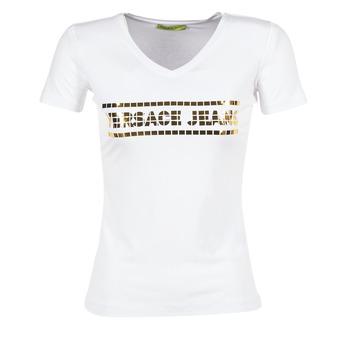 Oblečenie Ženy Tričká s krátkym rukávom Versace Jeans B2HPA7GC Biela