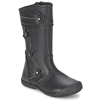 Topánky Dievčatá Čižmy do mesta Citrouille et Compagnie AMATIS Čierna