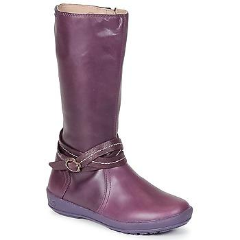 Topánky Dievčatá Čižmy do mesta Garvalin TARDA Tmavá fialová