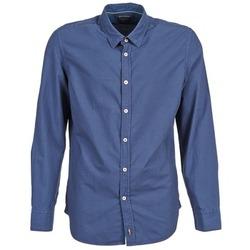 Oblečenie Muži Košele s dlhým rukávom Marc O'Polo CELSUS Modrá / Námornícka modrá / červená