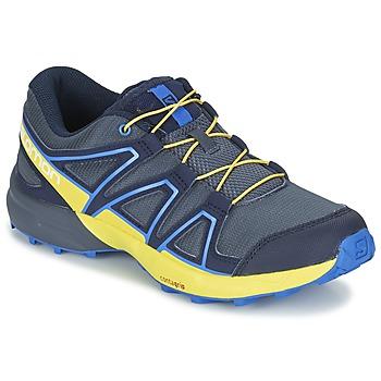 Topánky Deti Univerzálna športová obuv Salomon SPEEDCROSS J Modrá / žltá