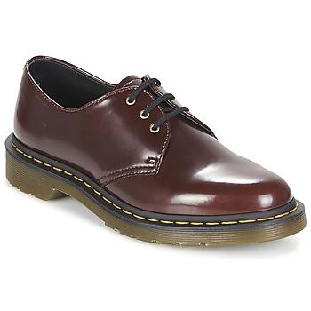 Topánky Ženy Derbie Dr Martens VEGAN 1461 Červená / Červená višňová