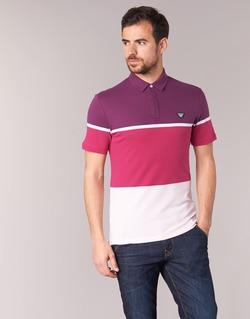 Oblečenie Muži Polokošele s krátkym rukávom Armani jeans MARAFOTA Fialová  / červená / Biela