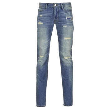 Oblečenie Muži Džínsy Slim Armani jeans NAKAJOL Modrá