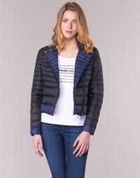Oblečenie Ženy Vyteplené bundy Armani jeans BEAUJADO Čierna / Modrá