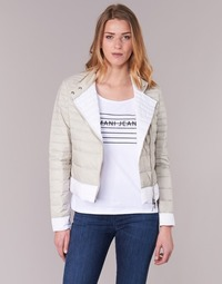 Oblečenie Ženy Vyteplené bundy Armani jeans BEAUJADO Béžová / Biela