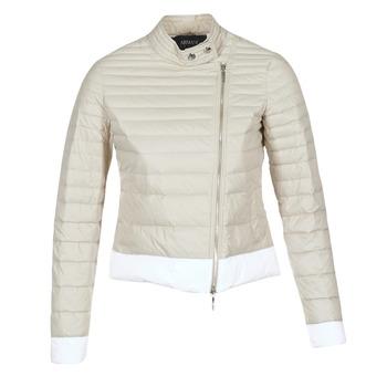 Oblečenie Ženy Páperové bundy Armani jeans BEAUJADO Béžová / Biela