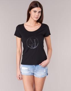 Oblečenie Ženy Tričká s krátkym rukávom Armani jeans LASSERO čierna