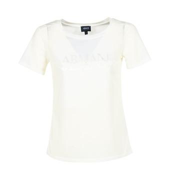 Oblečenie Ženy Tričká s krátkym rukávom Armani jeans KAJOLA Biela