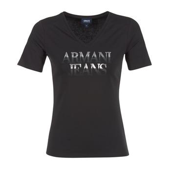 Oblečenie Ženy Tričká s krátkym rukávom Armani jeans JAGONA čierna