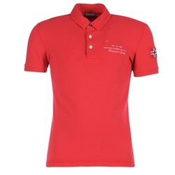 Oblečenie Muži Polokošele s krátkym rukávom Napapijri ELBAS Červená