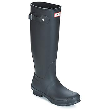 Topánky Ženy Čižmy do dažďa Hunter WOMEN'S ORIGINAL TALL Čierna