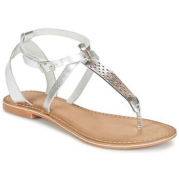 Topánky Ženy Sandále Vero Moda VMANNELI LEATHER SANDAL Strieborná