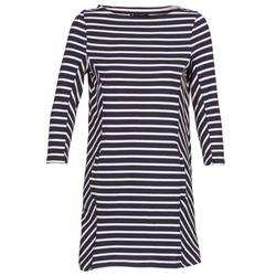 Oblečenie Ženy Krátke šaty Petit Bateau LESS Námornícka modrá / Béžová