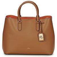 Tašky Ženy Veľké nákupné tašky  Ralph Lauren DRYDEN MARCY TOTE Hnedá / Oranžová
