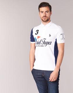 Oblečenie Muži Polokošele s krátkym rukávom U.S Polo Assn. SAINT TROPEZ POLO Biela
