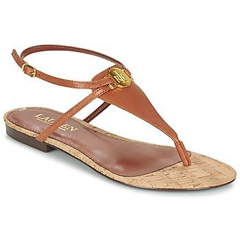 Topánky Ženy Sandále Ralph Lauren ANITA SANDALS CASUAL Hnedá