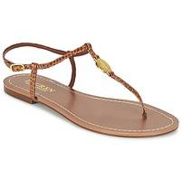 Topánky Ženy Žabky Ralph Lauren AIMON SANDALS CASUAL ťavia hnedá