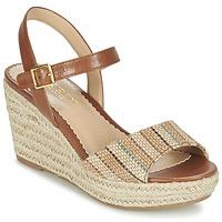 Topánky Ženy Sandále Ralph Lauren KEARA ESPADRILLES CASUAL Hnedá / Béžová