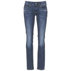 Oblečenie Ženy Rovné džínsy G-Star Raw MIDGE SADDLE MID STRAIGHT Denim