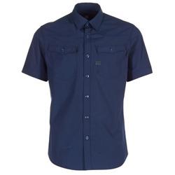 Oblečenie Muži Košele s krátkym rukávom G-Star Raw 3301 SHIRT Námornícka modrá